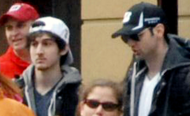 Lawyers for Dzhokhar Tsarnaev (white hat) have said the ''special administrative measures'' on him are hurting their ability to provide a legal defense for the Boston Marathon bombing suspect.
