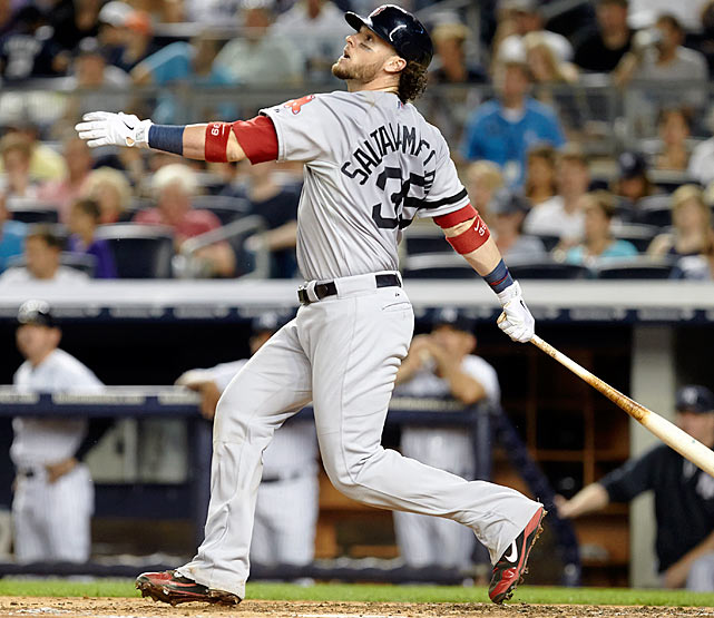 <bold>2013 Stats:</bold> .273 BA, .804 OPS, 14 HR, 65 RBI, 4 SB <bold>Current team:</bold> Red Sox <bold>Best fit:</bold> Red Sox The clear second option on the market among catchers, Saltalamacchia became the second option on his own team when it mattered most: David Ross, his backup, started four of Boston's six World Series games. Even so, Saltalamacchia was a key component of the Red Sox' championship team -- until you've observed his long curls dripping with champagne, you can't appreciate the full potential of what hair can be -- and ranked sixth among all catchers in OPS. Whereas Boston overhauled its roster last winter, it will now likely seek to keep it as intact as it can, and re-signing Saltalamacchia (and Napoli) would be a great start.