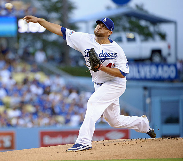<bold>2013 Stats:</bold> 13-11, 3.70 ERA, 1.209 WHIP, 7.4 K/9 <bold>Current team:</bold> Dodgers <bold>Best fit:</bold> Padres The longtime Marlin was fantastic in his first 12 starts after being traded to the Dodgers -- 8-1, with a 2.07 ERA -- but then allowed 20 earned runs in just 17 innings over his final five, the last an NLCS loss to the Cardinals. That finish could depress the price of Nolasco, who might represent a very good alternative to the top three domestic options of Santana, Jimenez and Garza, and who is about the same age. Nolasco seemed to genuinely value pitching in Southern California, where he grew up, and the Padres could keep him there in the hope that Petco Park helps him replicate his early Dodgers' tenure over the long haul.