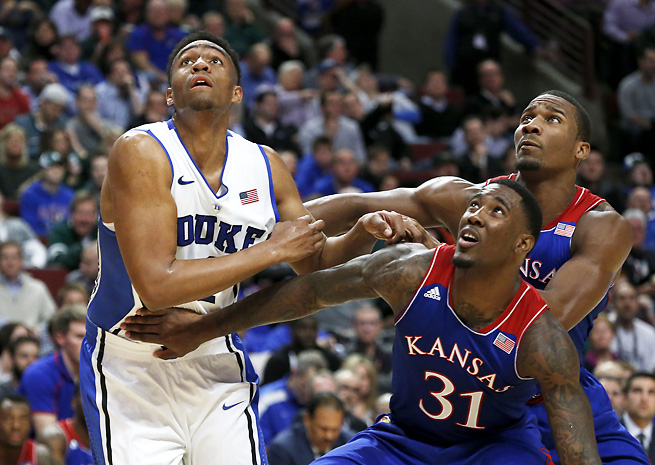 Jabari Parker (left) was tremendous on Tuesday night, scoring 27 points and grabbing nine boards.