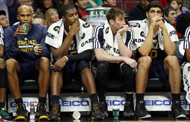 Under the current system, the NBA's worst team (currently the Jazz) would be rewarded in the lottery.