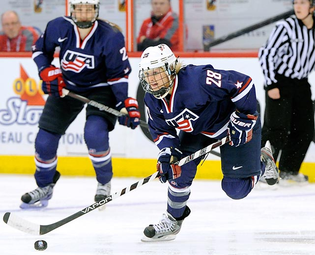 The national collegiate player of the year at Minnesota, Amanda Kessel also tied for the team lead in scoring when Team USA defeated Canada to win the world championship last spring. Amanda's brother, Phil, a star with the Toronto Maple Leafs, will likely play for the U.S. men's team.