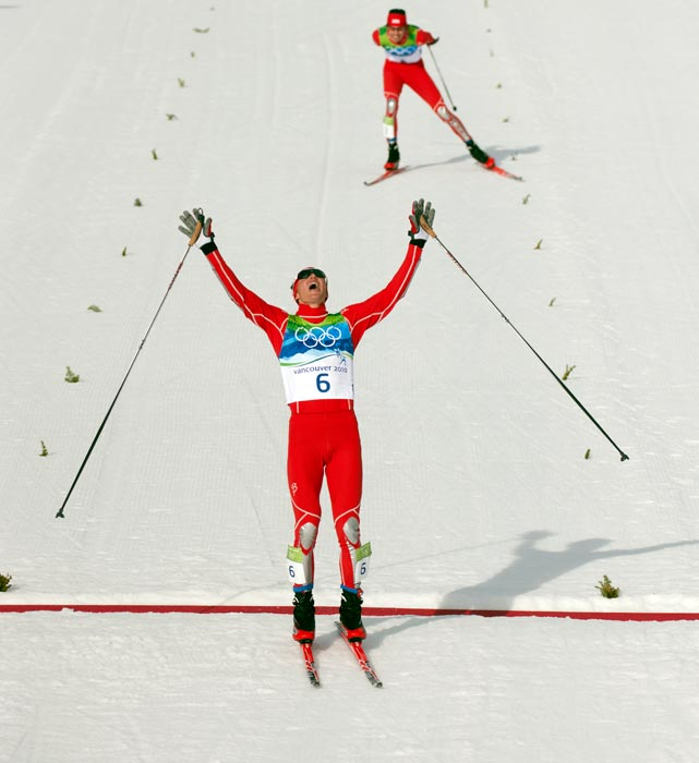For years, NC stood for No Chance for U.S. skiers in the Nordic combined events. Bill Demong, a 32-year-old Utah native and prospective five-time Olympian, will try to defend the individual title he won in Vancouver.
