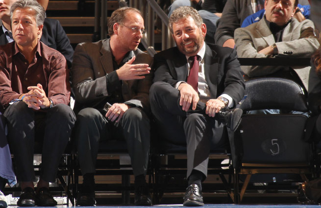 Knicks owner James Dolan (right) appeared to hastily guarantee a win, but his team delivered.