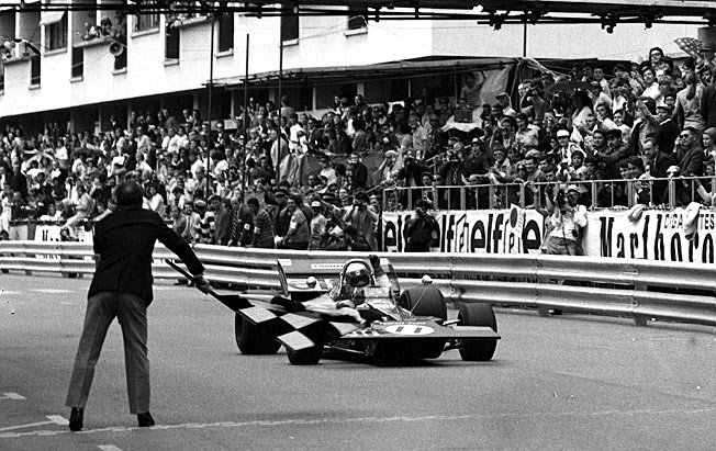 Jackie Stewart winning the 1971 Monaco GP where F1 drivers and fans were constantly in harm's way.
