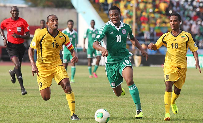 John Obi Mikel and Nigeria became the first African team to qualify for the 2014 World Cup.