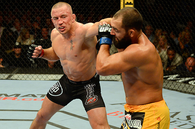 The controversial win was Georges St-Pierre's ninth straight welterweight championship belt.