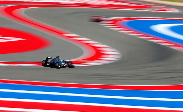 Nico Rosberg of Germany and Mercedes GP drives during practice for the United States Formula One Grand Prix at Circuit of The Americas in Austin.