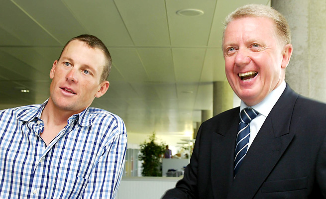 """Hein Verbruggen (right) said Lance Armstrong's implication of him lacks credibility and is """"illogical."""""""