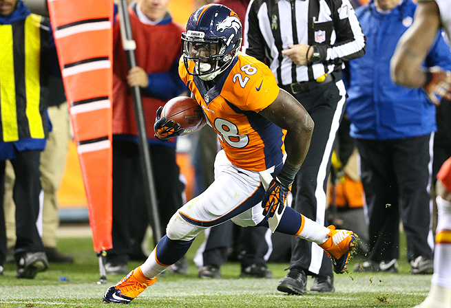 Montee Ball had his best NFL game against the Chiefs, rushing eight times for 25 yards and two TDs.
