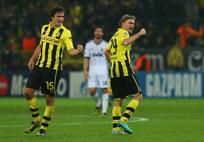 Injured Borussia Dortmund defenders Mats Hummels (15) and Marcel Schmelzer will miss the club's anticipated clash with fellow German power Bayern Munich this weekend.