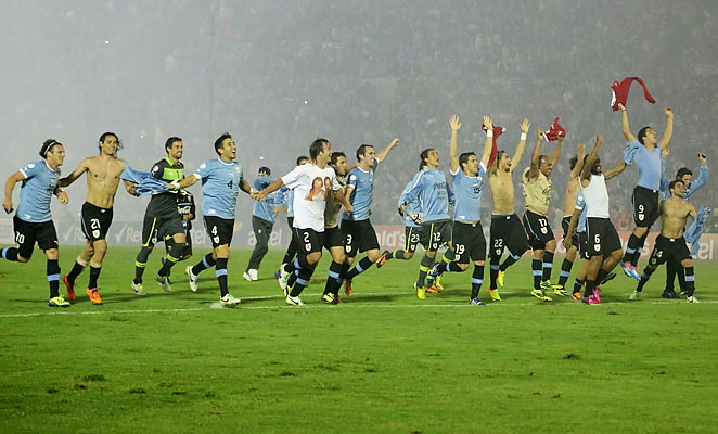 Uruguay defeated Jordan 5-0 on aggregate in their intercontinental playoff to advance to their second straight World Cup.