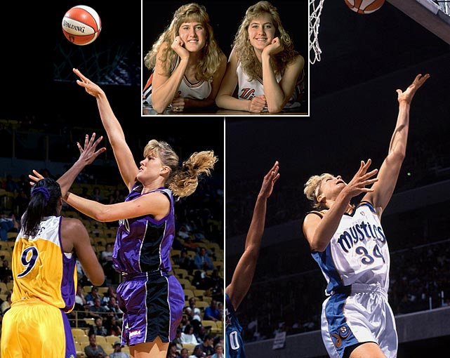 The 6'5 Burge twins were the tallest set of female twins for a period while they were playing in the WNBA. Heather was a member of the Sacramento Monarchs and Heidi played for the Los Angeles Sparks and Washington Mystics. The 2002 Disney movie <italics>Double Teamed</italics> was based on their lives.