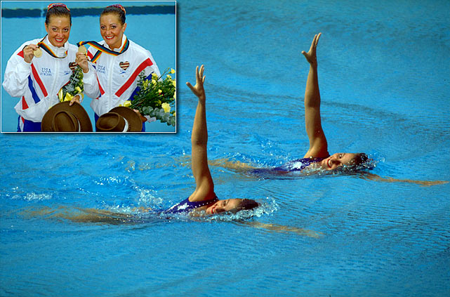 Twins Sarah and Karen won the duet event in synchronized swimming for the U.S. in the 1992 Olympics and earned silver medals at the 1988 Games in Seoul.