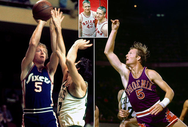 The Van Arsdale twins were guards at Indiana, shared a spot on the NBA All-Rookie team in 1966, and both retired after 12 years. Tom was drafted by the Pistons and played for six teams. Dick was picked by the New York Knicks but after three seasons was selected in the 1968 expansion draft by the Phoenix Suns, where he spent the remainder of his career.