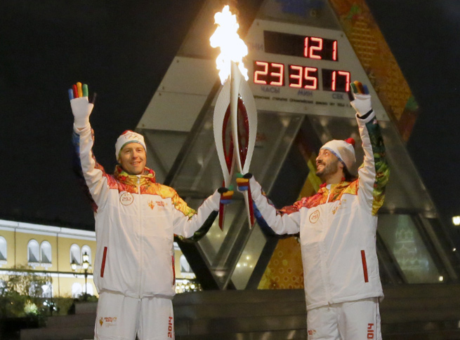 The Olympic torch has been to space, the North Pole, and now the bottom of Lake Baikal.