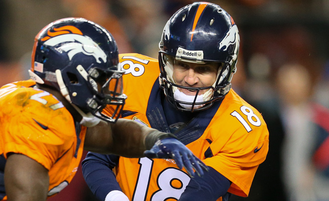 Peyton Manning is just one of a number of players with a high fantasy ceiling in Sunday's Broncos-Patriots tilt.