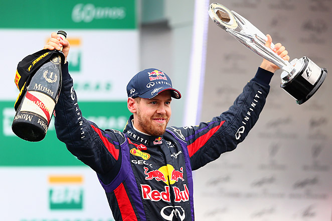 Sebastian Vettel's season-ending win matches Michael Schumacher's record of 13 victories in a year.