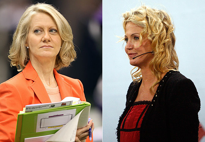 Andrea Kremer and Michelle Beadle feel women sports journalists are criticized in ways men are not.