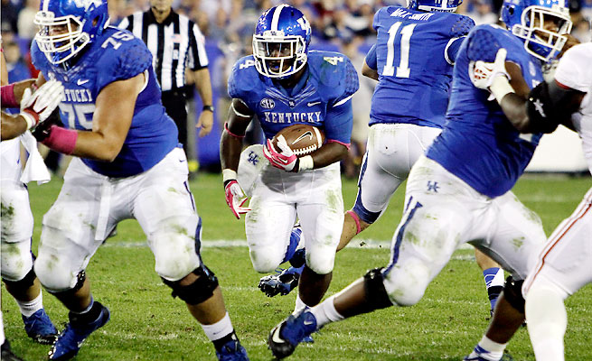 Raymond Sanders leads the Wildcats with 464 yards rushing on 107 carries this season.