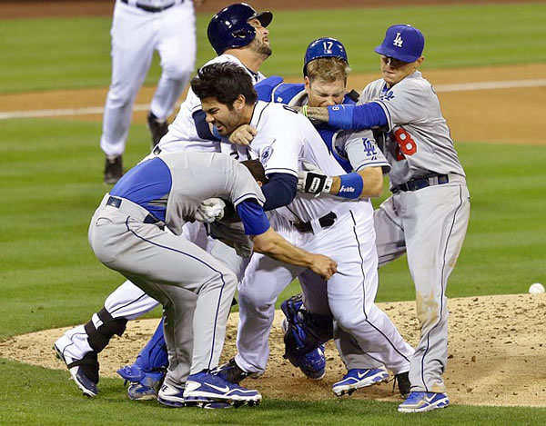 "Everyone loves Zack Greinke, the Dodgers pitcher known for his affinity for sabermetrics and refreshingly candid quotes (""I could play for the worst team if they paid the most""). Well, everyone except Padres outfielder Carlos Quentin. After Greinke plunked him during an April game, Quentin charged the mound, colliding shoulder-on-shoulder with the pitcher and breaking Greinke's collarbone. Sure, Greinke had beaned him twice before, but Quentin, who notoriously crowds the plate, boasted 115 HBPs going into the game. And while Quentin received a deserved eight game suspension, Greinke would unfairly miss eight weeks rehabbing his shoulder."