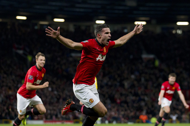 Manchester United forward Robin van Persie will miss the club's Champions League clash with Bayer Leverkusen with a groin injury.
