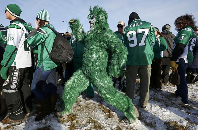Sasquatch was spotted at the Grey Cup game in Regina, Saskatchewan where the hometown Roughriders won the CFL championship by running roughshod over the Hamilton Tiger-Cats, 45-23.