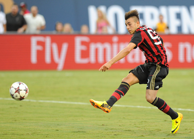 AC Milan striker Stephan El Shaarawy has returned to training for the first time since being injured in September.