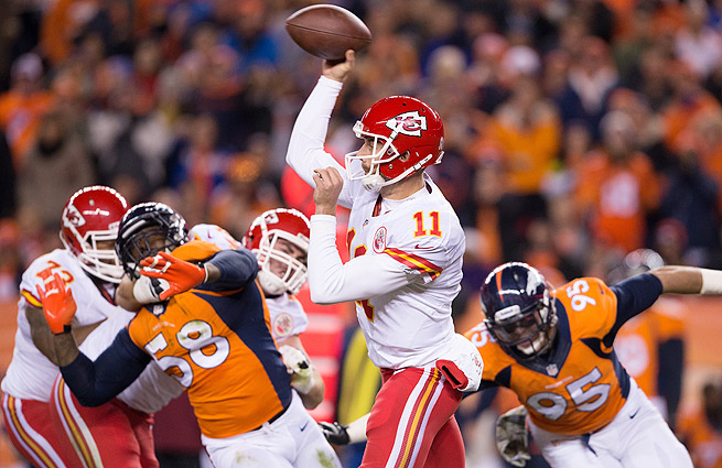 Alex Smith threw for 230 yards, with two TDs and no interceptions in the Chiefs' Week 11 loss to the Broncos.