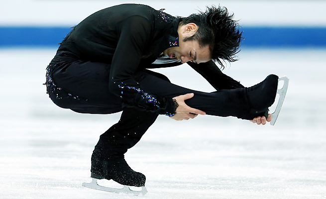 Daisuke Takahashi won the men's singles competition at the Grand Prix Final last year.