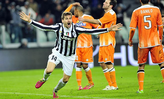 Fernando Llorente snatched a late winner for Juventus against Udinese on Sunday.