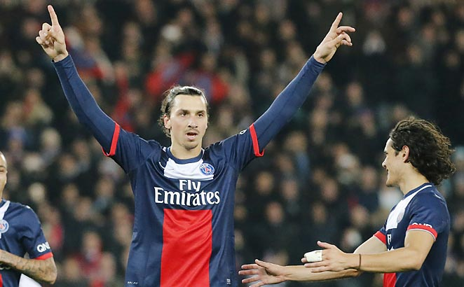 Zlatan Ibrahimovic scored a penalty kick against Lyon to make him the top scorer in Ligue 1.