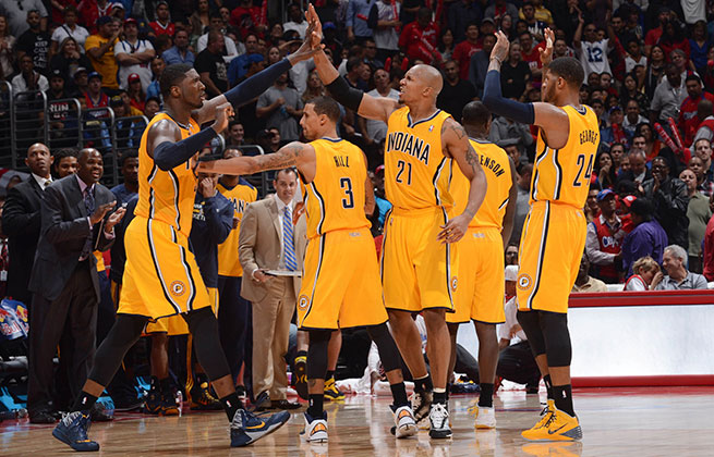 The Pacers' starting lineup is holding opponents to a stifling 86.5 points per 100 possessions this year.