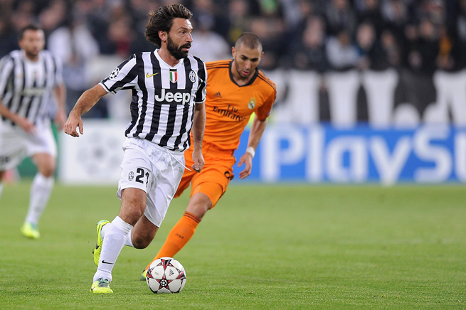 Italy and Juventus star Andrea Pirlo (21) is expected to be out until the new year with damaged knee ligaments.