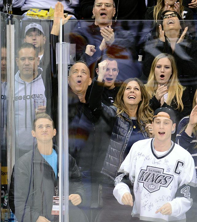 Los Angeles Kings vs. Calgary Flames Nov. 30, 2013 at Staples Center in Los Angeles