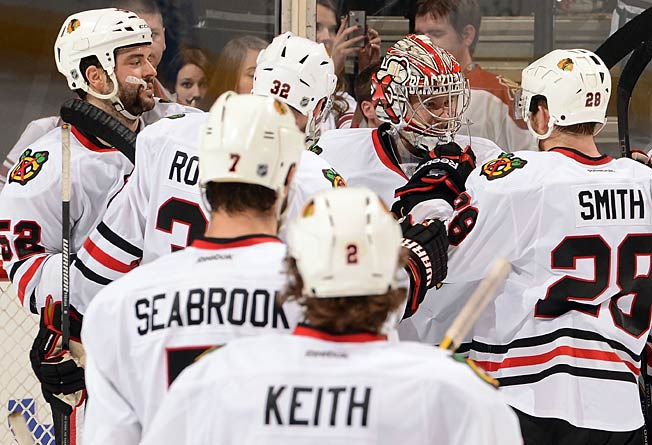 Even rookie goalie Antti Raanta got in on the fun as the Blackhawks tore up the road in seven games.