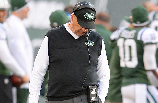A fixture on the hot seat before the season, Rex Ryan may find himself right back there with the Jets struggling.