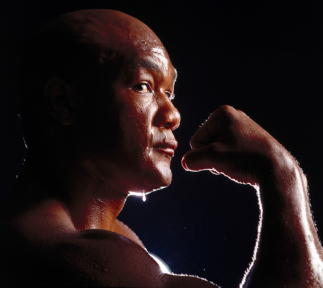 He's back, by George! After a 10-year retirement, Foreman returned to the ring in 1987 and ran up a string of victories. Here, on April 9, 1991, the 42-year-old flexed during a photo shoot, just 10 days before his fight with heavyweight champion Evander Holyfield. Big George would lose that one, but three and a half years later he would become the oldest heavyweight champion in history with a 10th-round KO of Michael Moorer. Click here for Neil Leifer's fine art photography.