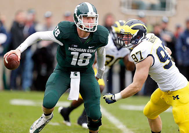 Michigan State QB Connor Cook has 12 touchdown passes during the team's eight-game winning streak.