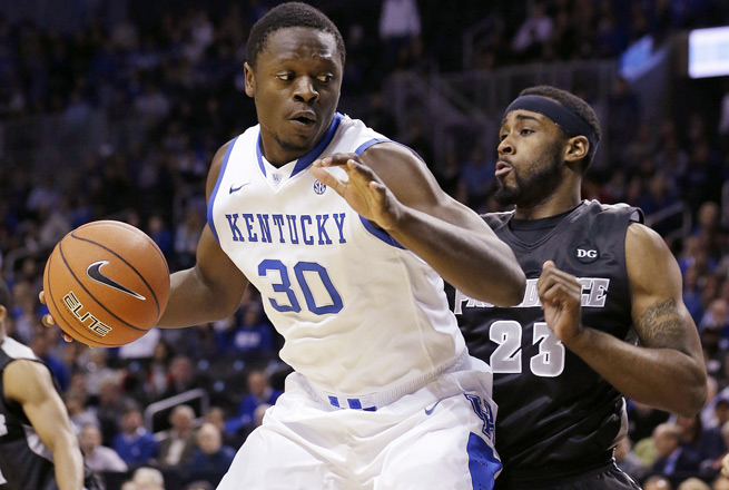 The 6-foot-9, 250-pound Julius Randle is averaging 18.1 points and 12.5 rebounds for Kentucky.
