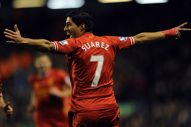 Luis Suarez scored four goals against Norwich City in a 5-1 win on Wednesday.