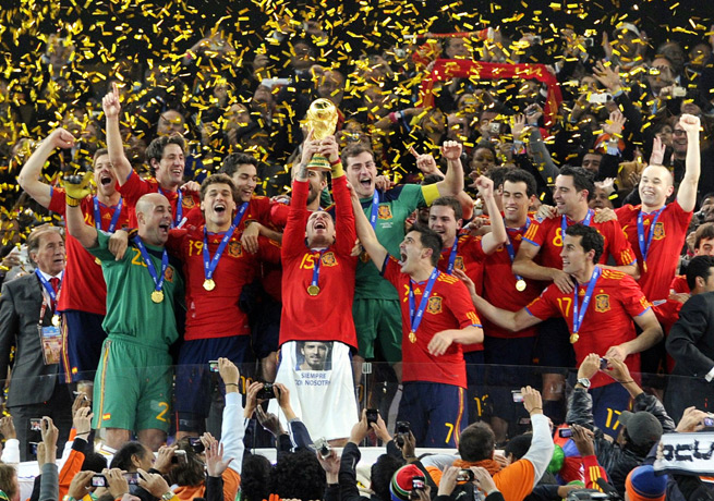 Spain will look to defend their 2010 title in Brazil, where FIFA expects to sell over 3 million tickets.