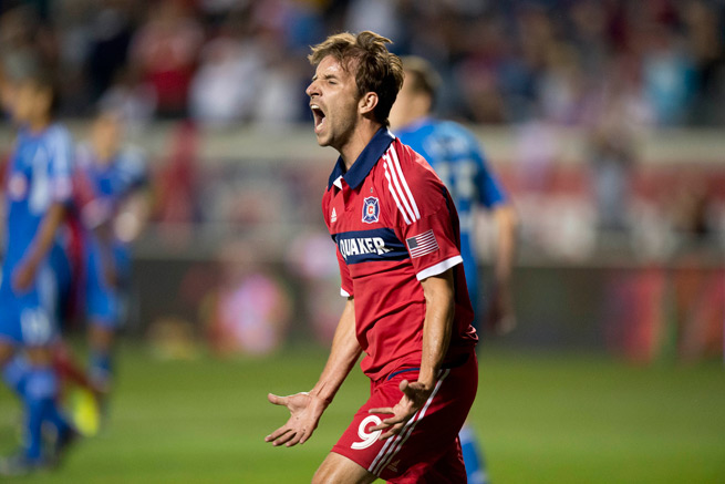 Chicago Fire forward Mike Magee capped a career season by earning MLS MVP honors on Thursday.