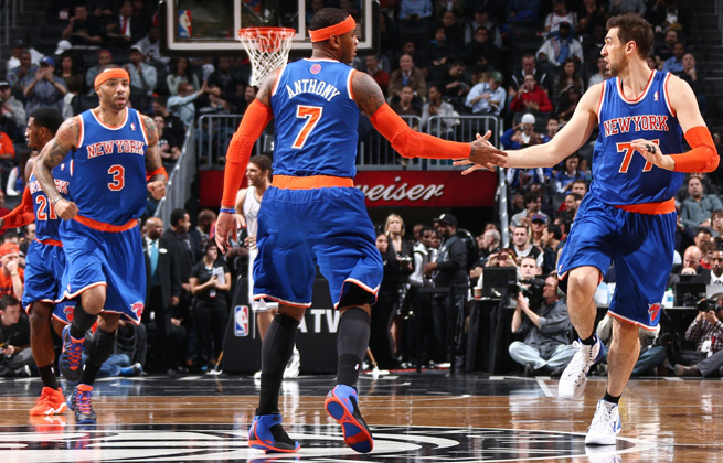 Carmelo Anthony (7) and the Knicks looked like the team they expected to be in blowout win vs. Nets.