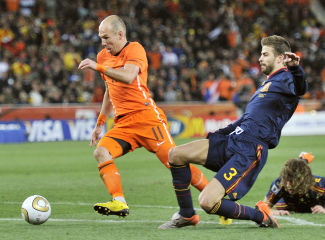 Arjen Robben's Netherlands will meet Gerard Pique's Spain in their opening game of the 2014 World Cup in a rematch of the 2010 final.