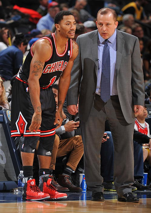 Chicago Bulls guard Derrick Rose, the 2011 NBA MVP who missed all of last season after tearing his left ACL in the 2012 playoffs, tore the medial meniscus in his right knee on Nov. 23 and was lost for another season. Rose played in 10 games this season, averaging 15.9 points per game and 4.3 assists in 31.1 minutes. He injured the knee in the third quarter of the Bulls' loss in Portland.