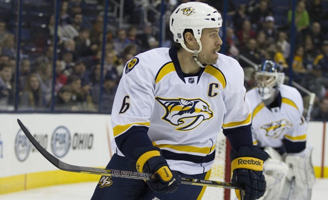 Predators defenseman Shea Weber totaled seven goals and 12 points before being sidelined after taking a puck to the eye on Nov. 28 in Edmonton.