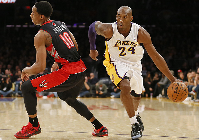 It remains to be seen how quickly Kobe Bryant (right) will recover his trademark explosiveness.