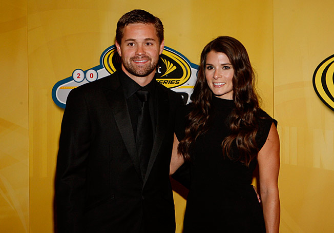 Danica Patrick (with Ricky Stenhouse Jr.) had to think twice about hosting a music awards show.