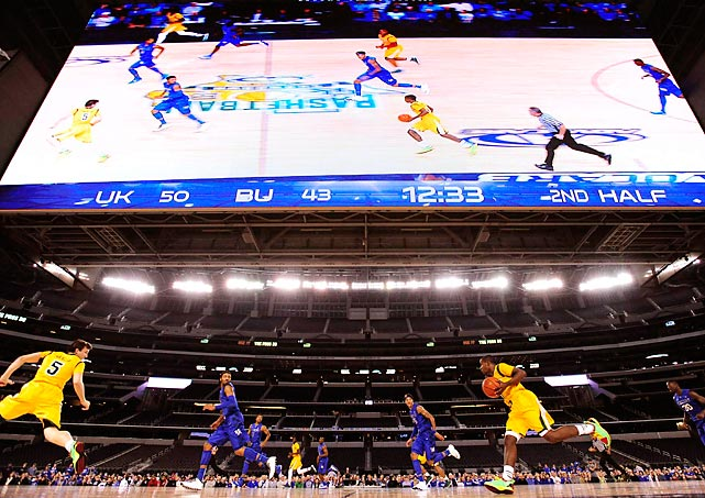 Kentucky and Baylor square off at Cowboys Stadium in Dallas on Friday. The 20th ranked Bears upset the No. 3 Wildcats 67-62, led by guard Kenny Chery's 18 points.